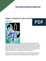 Jupiter's Transit of Cancer 2013