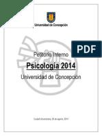 Petitorio Interno Psicología 2014