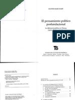 01-Pensamiento Político Post Fundacional. Marchart-2009