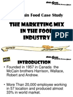 McCain Food Case Study