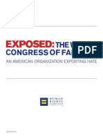 HRC report on World Congress of Families