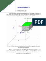Hidrodinâmica – Equação da Continuidade