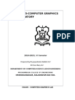 Cs2405 Computer Graphics Lab Manual-new