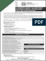 Anuncio becas de grado nacionales 2014