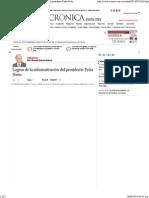 26-08-14 Logros de La Administración Del Presidente Peña Nieto