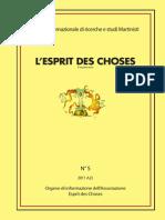Esprit Des Choses 5 2011