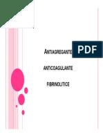 Antiagregante Anticoagulante Fibrinolitice Ppt