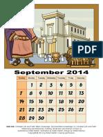 3D Calendar-Old Testament, September 2014
