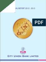 Cub Annual Report 2012-13