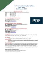 CBIO 3000L Lab Syllabus_Fall2014