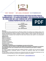 Métodos y Estrategias de Enseñanza - Aprendizaje Del Área