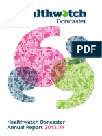 27-06-14 Healthwatch Doncaster Annual Report 2013-14