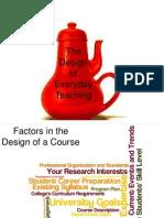 design of everyday teaching