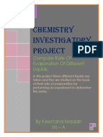 Chemisty Investigatory Project