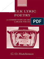 Hutchinson_Greek_Lyric Poetry a Commentar