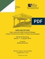 Raccolta e gestione dei dati archeologici tramite software Open Source