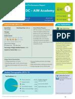 KIPP DC - AIM Academy PCS Performance Report 2013