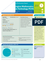 Washington Mathematics Science Technology PCHS Perfromance Report 2013