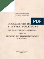 Dictadura - Documentos Basicos y Bases Politicas