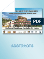 Tourism Outlook Conference Sri Lanka 2014 Abstracts