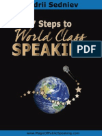 7 Steps to World Class Speaking