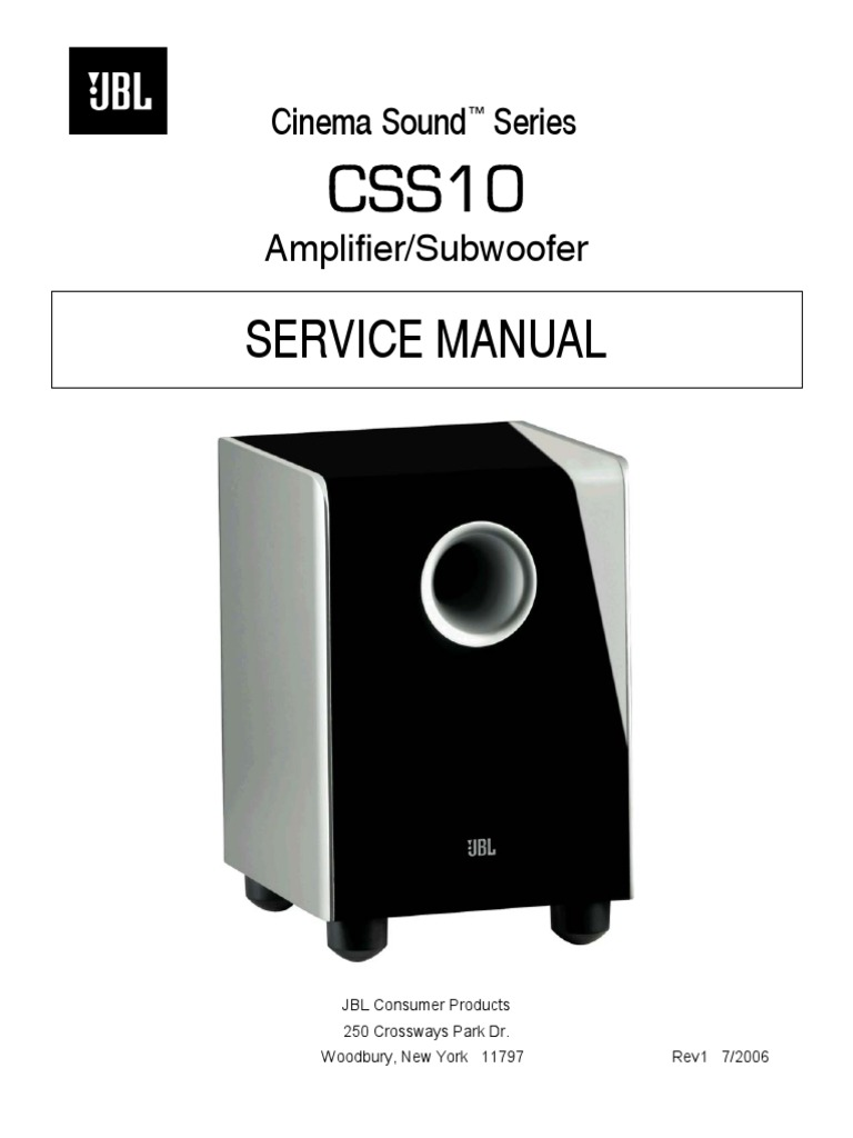 jbl css10 sm loudspeaker amplifier rh scribd com JBL Competition Subwoofer jbl sub 145 user manual