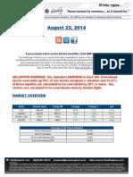 ValuEngine Weekly Newsletter August 22, 2014