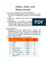 Quantities, Units, And Measurement
