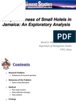 Competitiveness of Small Hotel