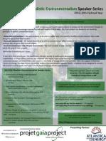 Realistic Environmentalism Speaker Series, 2013-2014 Summary Report
