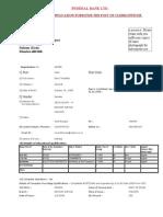 Application Form Federal Bank