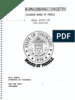 2000-01 Parole Board Annual Report