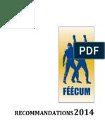 Les Recommandations de La FEECUM