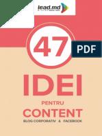 47 Idei Pentru Content - Lead.md
