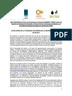 Declaracion COENER,CEDICE, GO y SVIP a 2años Del Acc Idente de Amuay 250814.Docx