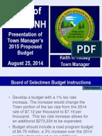 TM Budget Presentation 2015