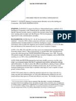 Decision Memorandum for Dni on Icreach