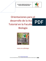 Accion Tutorial en La Facultad de Biologia