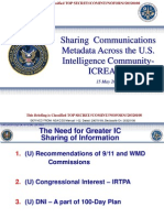 NSA Leaks August 25, ICREACH, CRISSCROSS, PROTON, Ed Snowden 2014 Sharing Communications Metadata Across the US