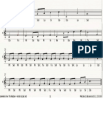Sobre El Arcoiris Notas Musicales