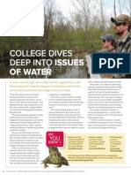 Colleges Dives Deep Into Issues of Water