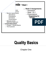 Basics of Quality