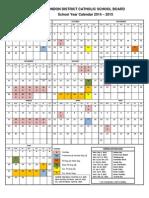 ldcsb school year calendar 2014-15