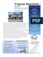 August We Care Newsletter