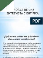 Informe de Una Entrevista Científica