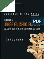 Congreso de las Artes Homenaje a Jorge Eduardo Eielson - Programacion