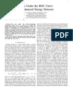 AUC for Enhanced Energy Detector