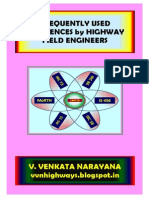 Frequently Used References by Highway Field Engineers