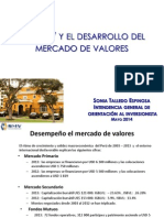 La SMV en Su Papel Promotor Del Mercado de Valores Arequipa - Tacna - Mayo 2014