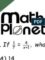 SAT Maths Problems